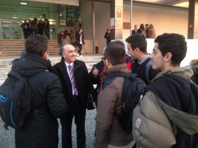 Rektor nga Tuzlla në mesinm e studentëve të UP