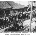Nxënësit e Mitrovicës, në nisje për Pazarin e Ri viti 1942