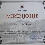 Mirenjohje  Aqif Blytes nga Kryetarja e Gjakoves , M. Kusari