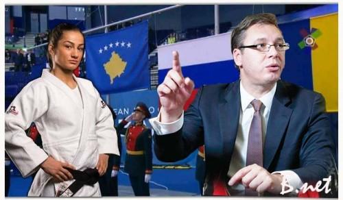 Majlinda_Kelmendi_Vucic_zastava_Kosova1