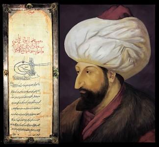 Ahdnama-sultana-Mehmeda-II-Fatiha