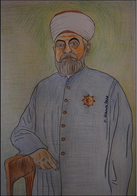3.-Muftija-novopazarski-Teufik-ef.-Imamović.-Autor-crteža-je-Harun-Crnovršanin (1)