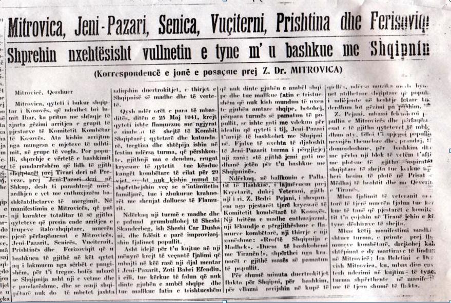 Artikulli i gazetarit  Xhelal Mitrovicës