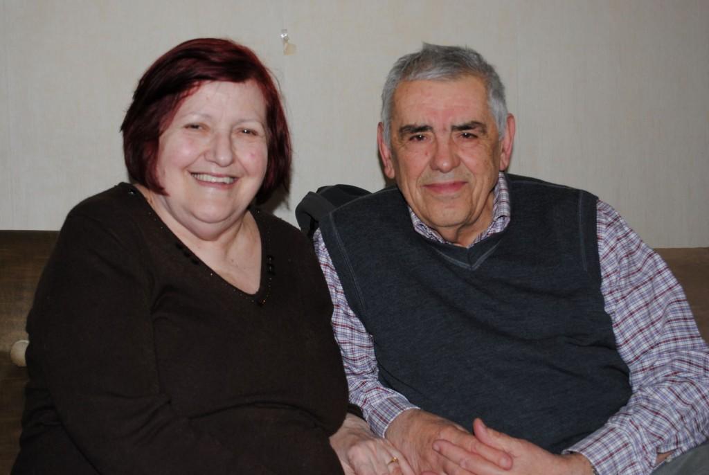 Sestričina Aćifa efendije, Bega (Čarovac) sa mužem-rahmetli Redžepom Kocom (1934-2021) u Beogradu 13. april 2013 (foto H. Crnovršanin)